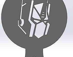 3D printable model Coffee Stencil - Optimus Prime face