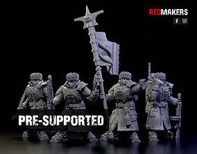 Ice Warriors - Command Squad of the 3D print model 1