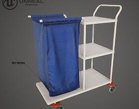 3D model Medical Laundry Trolley