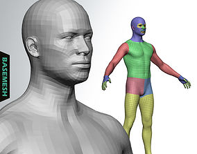 3D model Average Male Body Low Poly Basemesh