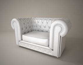 05 LEATHER SOFA SINGLE 3D model