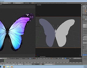 3D asset Animated lowpoly butterfly used in film