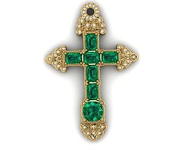 3D printable model An Emerald Cross from the Atocha 1