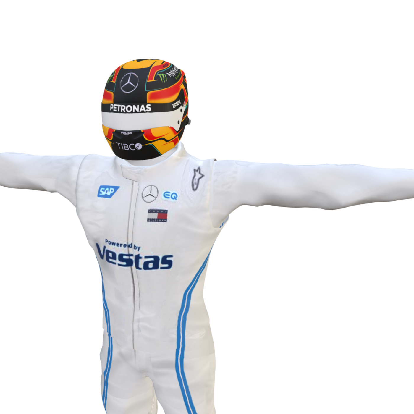Stoffel Vandoorne racing suit and helmet