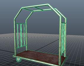 3D asset Lobby Baggage Cart