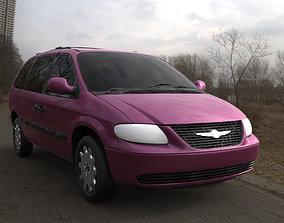3D Chrysler Town Country LX Minivan 2002