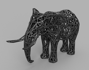 Low poly Elephant 3D printable model