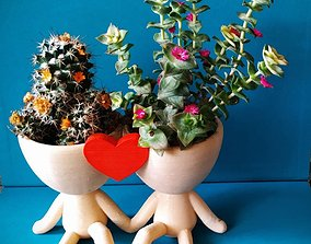 Robert Plant Pot couple with heart 3D printable model