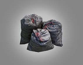 3D model 4 Trash Bag Bundle