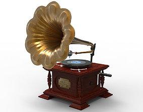 Gramophone antique 3D
