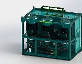 3D Hydraulic Power Unit 3x90kW