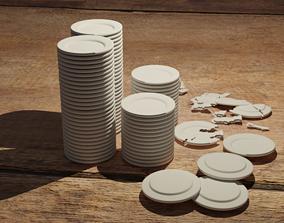 3D model dinner Ceramic plate