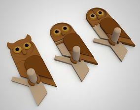 3D print model owl hanger