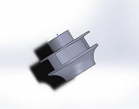 parts closed impeller 3D model