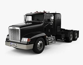 3D model Freightliner FLD 120 Tractor Flat Top Sleeper 2