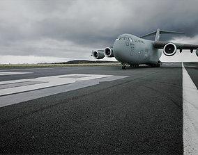 Boeing C-17 Globemaster III 3D asset animated