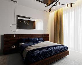 Modern Bedroom Scene for Cinema 4D and Corona Renderer 3D