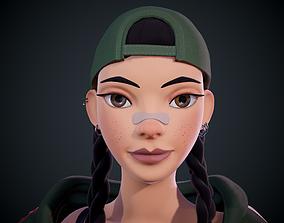 Cartoon Girl -Ready To Rigg 3D asset