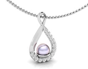 3D printable model Self-crossed pearl pendant shining