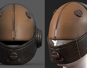 3D asset Helmet scifi fantasy PBR textures low poly