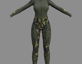 3D asset FVX400 Jumpsuit Camo