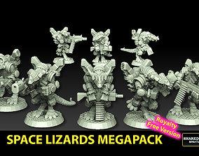 Space Lizards Megapack Royalty Free 3D printable model 1