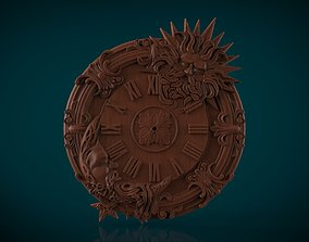 carving Moon and Sun Wall clock 3d stl model for cnc