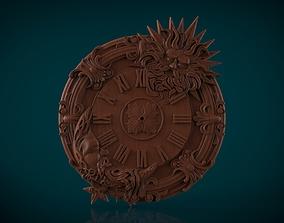 Moon and Sun Wall clock 3d stl model for cnc