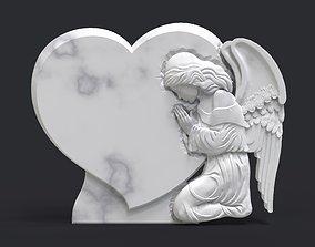 Praying Angel Tombstone 3D print model