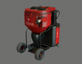 Industrial vacuum cleaner GameReady 3D asset