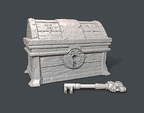 Sunken Treasure Chest with Key 3D print model