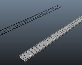 30cm Ruler Normal and Transparency 3D asset