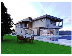 Villa yard 3D model