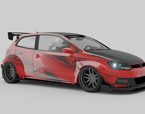3D model Volkswagen polo gti widebody