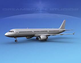 3D Airbus A321 Unmarked 2