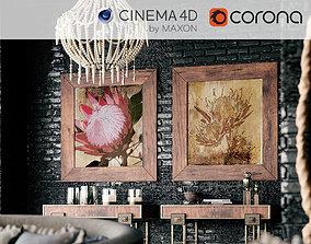 3D Corona - C4D Scene files - African Interior Scene