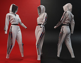 3D model game-ready tracksuit