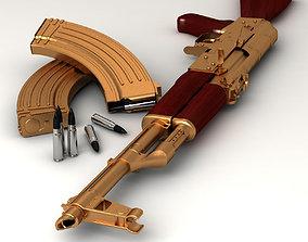 golden AK47 3D model