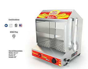 3D Paragon 8020 Dog Hut Hot Dog Steamer