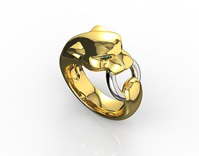 3D print model Panthere Emerald Ring 18k
