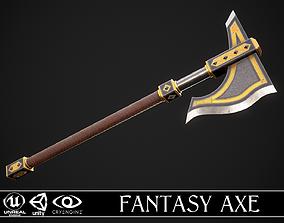 Fantasy Axe 1B 3D asset