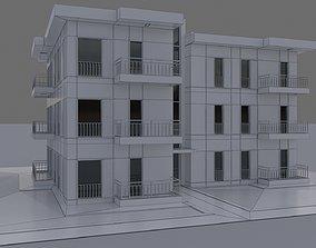 3D asset Modern Apartment Building