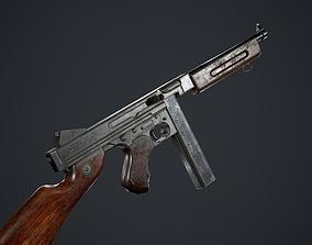 3D asset low-poly Thompson M1