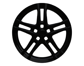 sport 3D model Bavaro black car rim
