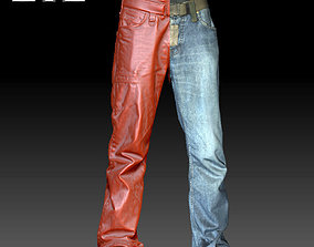 Male Pants Jeans Zbrush 3D Scanned Model