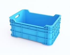 Plastic crate 09 3D