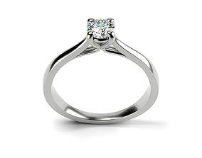 3D print model Cathedral Solitaire Ring