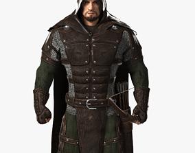 3D model Archer Warrior Rigged