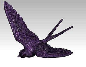 Swallow bird wildlife 3D print model