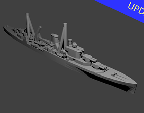 British Leander Class Cruiser Warship 3D printable model